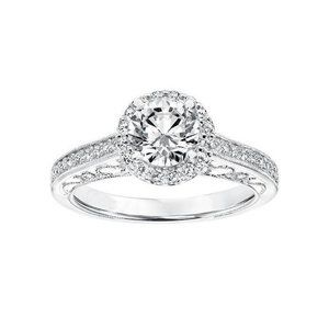 2.50 ct solitaire with accent diamonds wedding rin